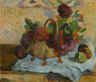 Paul Gauguin, Fleurs dans un panier, 1880-85, źródło: Sotheby's