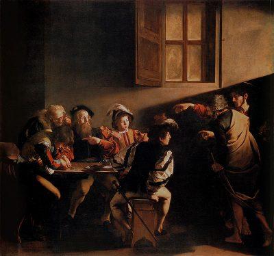 Caravaggio, Powołanie świętego Mateusza, 1599–1600
