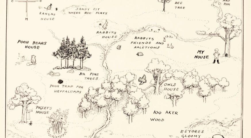 E. H. Shepard, Oryginalna mapa Stumilowego Lasu, Sotheby's
