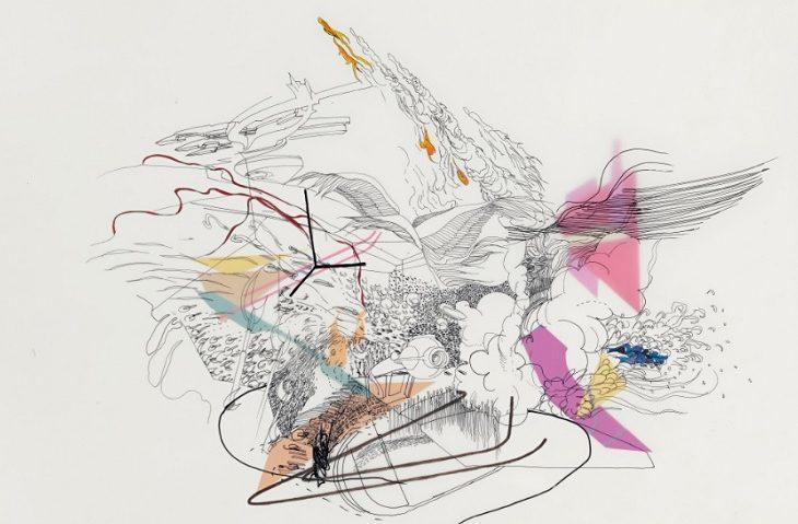 Julie Mehretu, Untitled, 2000, źródło: Sotheby's