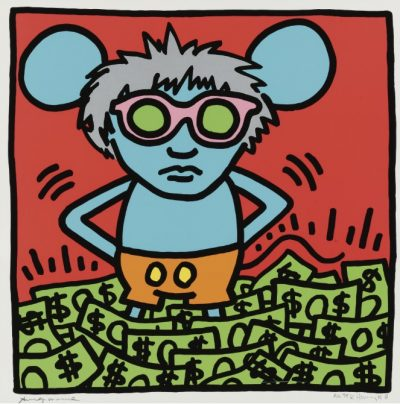 Keith Haring, Andy mouse, 1983, Sotheby's