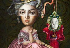 Carrie Ann Baade, Odruchowe myśli pani Cecilii Devereux, olej na płycie, 51x41 cm