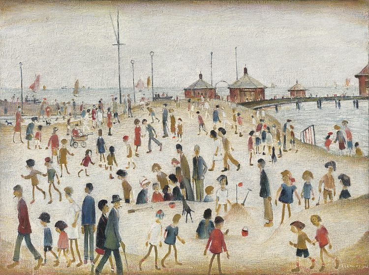 LS Lowry Lytham Pier 1945 courtesy of the Richard Green Gallery, London