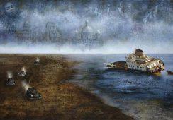 Mariola Jaśko, Czterech jeźdźców Apokalipsy, olej na płótnie, 100x150 cm