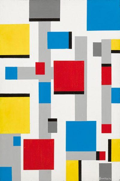 Frank Sinatra, Abstract after Mondrian, 1991