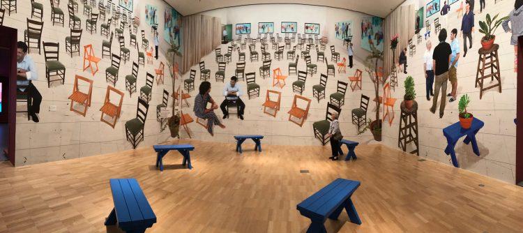 David Hockney, Chairs, 2014 - rynekisztuka.pl