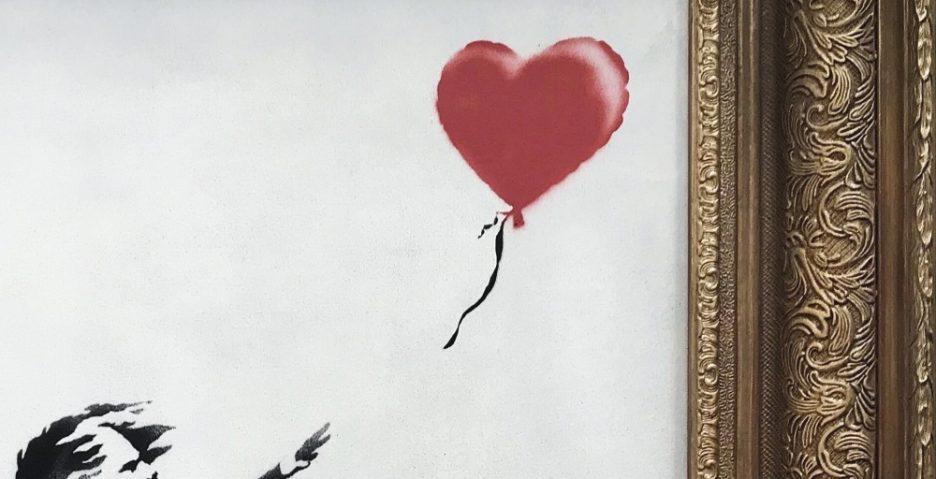 Dziewczyna z balonikiem [detal], Banksy - rynekisztuka.pl; źr. Sotheby's