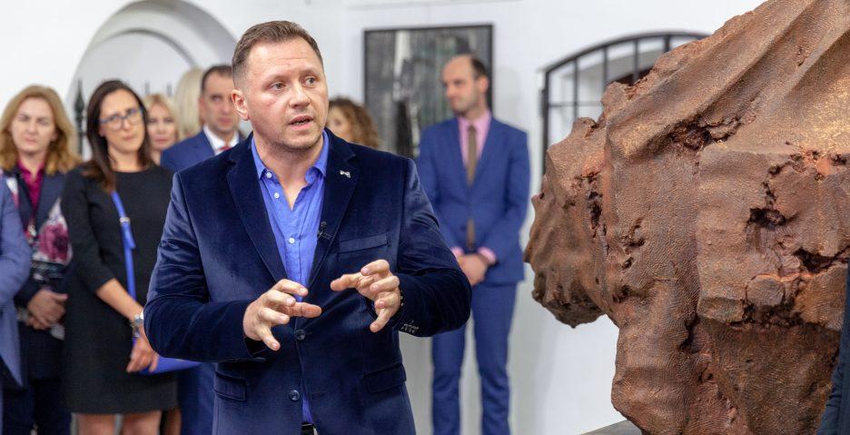 """Dokumentacja wernisażu wystawy ,,Wyzwalanie"""", fot. Włodzimierz Dabkowski"""