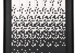 Ryszard Winiarski, Chance in game for one, 1989, akryl, ołówek, płyta pilśniowa, 64,5x64,5cm z autorską oprawą - materiały prasowe Piękna Gallery - rynekiszuka.pl