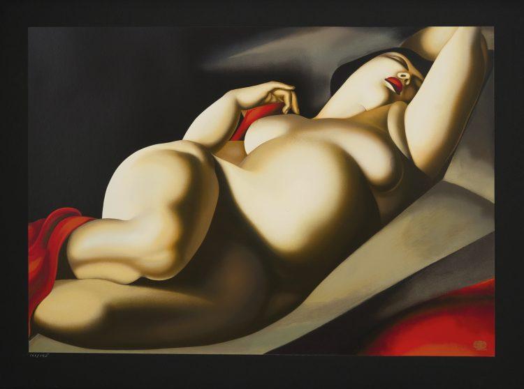 Tamara Łempicka, La Belle Rafaela, 2018, serigrafia, 64x90,5 cm - materiały prasowe Piękna Gallery - rynekiszuka.pl