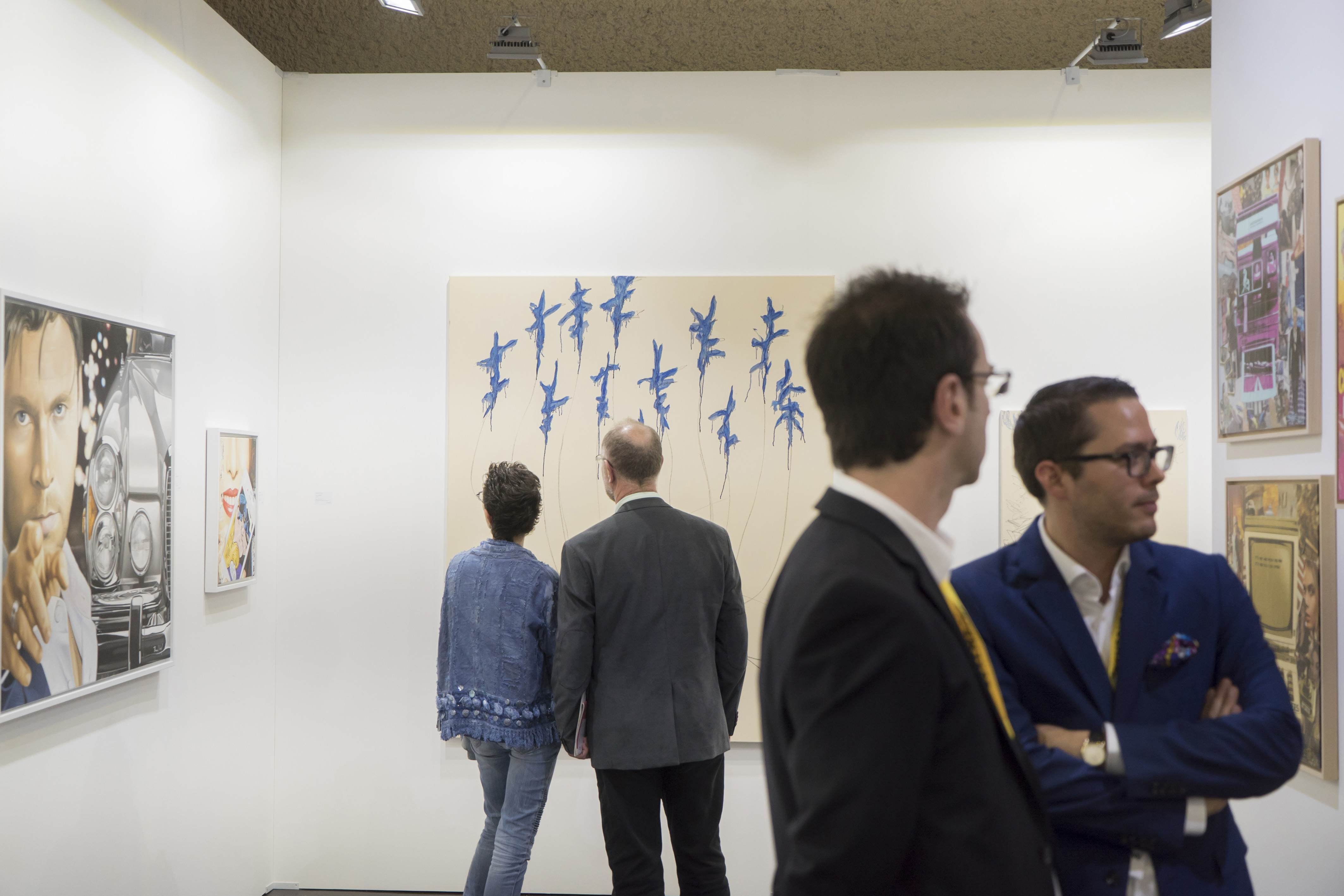 Stand Ernst Hilger.jpg : View from the Galerie Ernst Hilger booth, Luxembourg Art Week 2017 © Eric Chenal