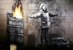 Życzenia świąteczne od Banksy-ego