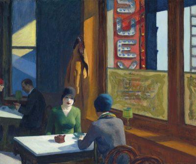 Edward Hopper, Chop Suey, 1929, źr. Christie's / rynekisztuka.pl