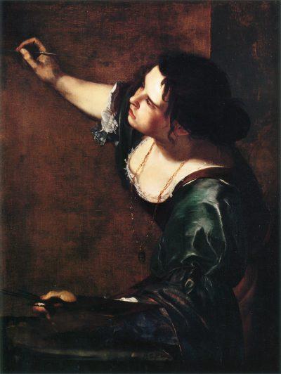 Artemisia Gentileschi, Alegoria malarstwa, 1638; Kolekcja Brytyjskej Rodziny Królewskiej - rynekisztuka.pl