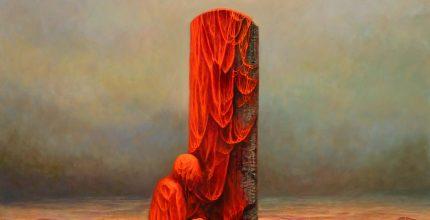 Krzysztof Heksel, bez tytułu, 92x88 cm; źr. TouchOfArt - rynekisztuka.pl