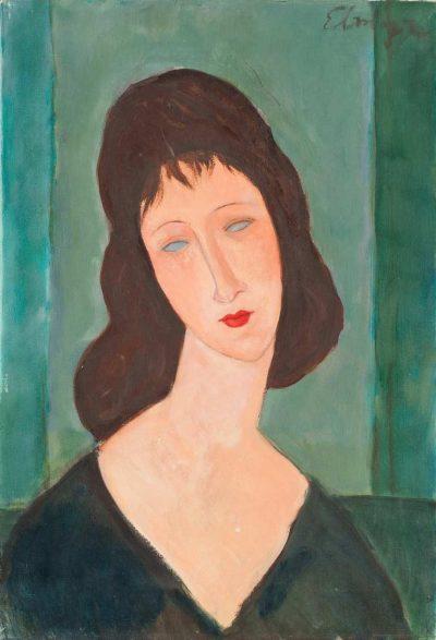 Elmyra de Hory, portret w stylu Modiglianiego, 1975; źr. intenttodeceive.org / rynekisztuka.pl