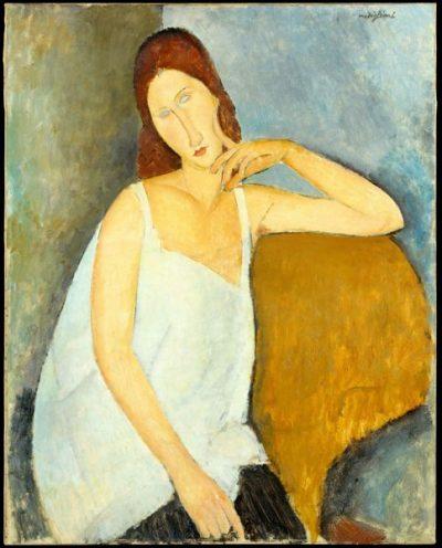 Amedeo Modigliani, Jeanne Hebuterne, 1919; źr. metmuseum.org / rynekisztuka.pl