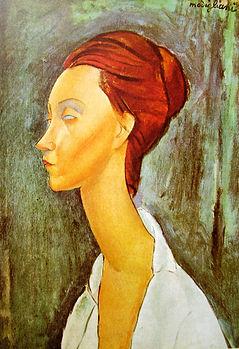 Amedeo Modigliani, portret Luni Czechowskiej, 1919 / rynekisztuka.pl
