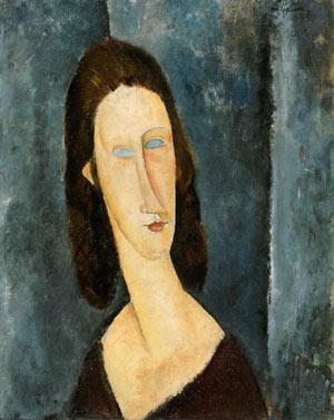 Amedeo Modigliani, niebieskie oczy, 1917, źr. Philadelphia Museum of ArtCorbis / rynekisztuka.pl