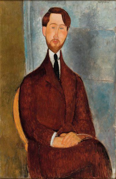 Amedeo Modigliani, portret Leopolda Zaborowskiego, 1916-1919; źr. masp.org.br / rynekisztuka.pl