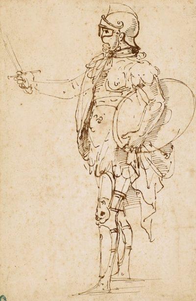 Rafael Santi, Rzymski żołnierz; źr. Sotheby's - rynekisztuka.pl