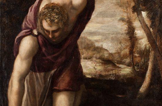 Tintoretto, Narcyz, ok. 1560, źr. Muzeum Narodowe we Wrocławiu - rynekisztuka.pl