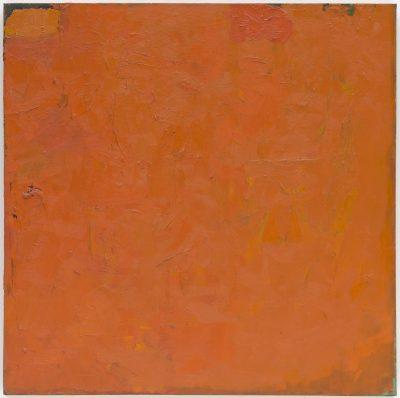 Robert Ryman, pomarańczowy obraz, 1955; źr. moma.org