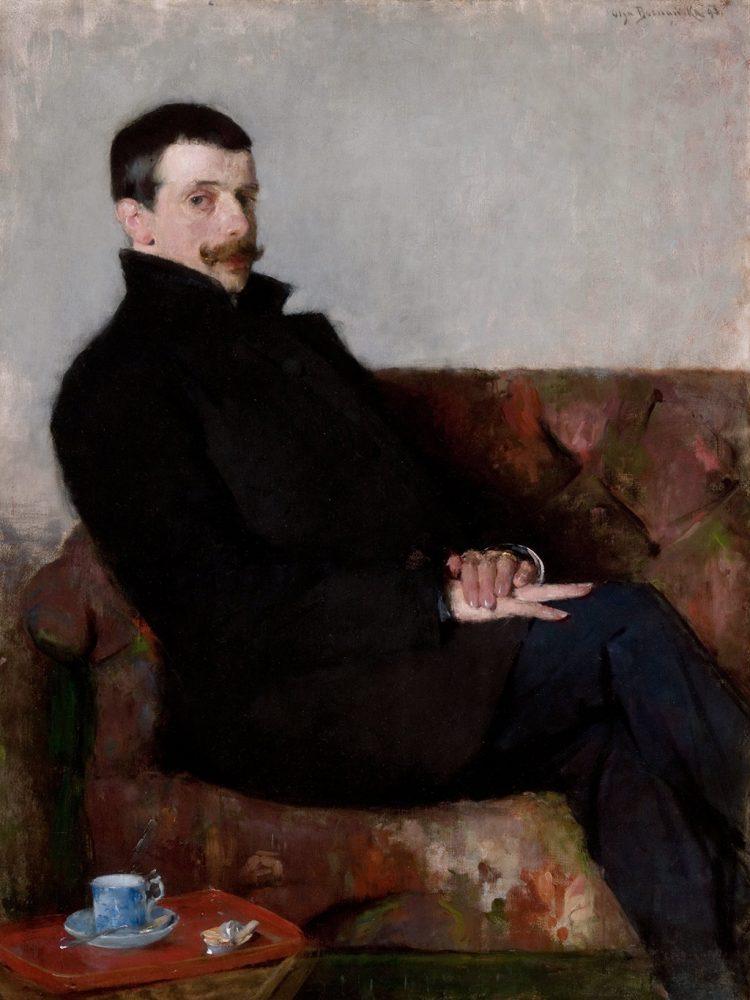 Olga Boznańska, Portret Pawła Nauena, 1893, Muzeum Narodowe w Krakowie - rynekisztuka.pl