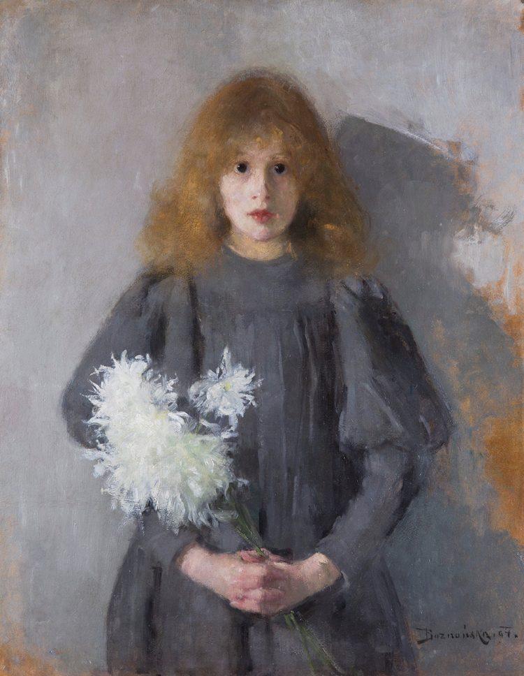 Olga Boznańska, Dziewczynka z chryzantemami, 1894; Muzeum Narodowe w Krakowie - rynekisztuka.pl