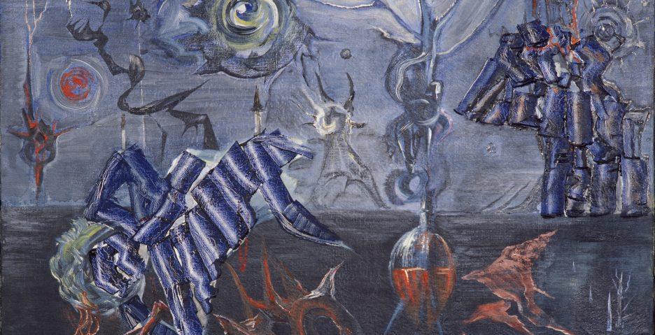 Jerzy Tchórzewski, Krajobraz, 1954; źr: Zachęta - Narodowa Galeria Sztuki