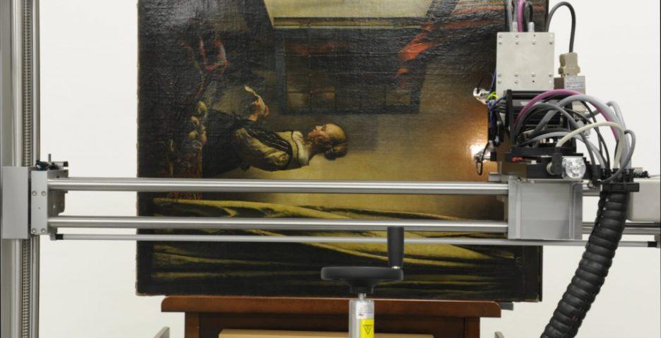"""Renowacja obrazu Vermeera """"Dziewczyna czytająca list"""". Źr. Staatliche Kunstsammlungen Dresden - rynekisztuka"""