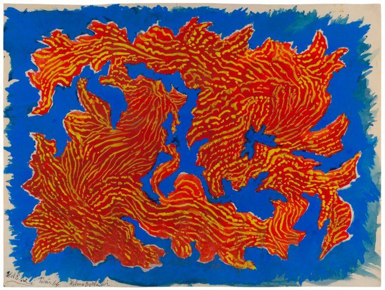 Helena Berlewi, Kompozycja abstrakcyjna, 1966