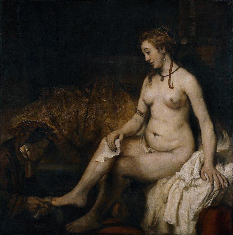 Rembrandt, Batszeba w kąpieli, 1654; Luwr