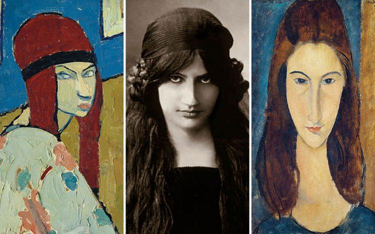 Jeanne Hebuterne na: autoportrecie z 1917; fotografii z 1916; portrecie Amadeo Modiglianiego z 1919