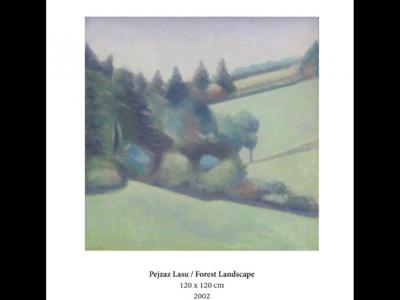 Jerzy Mierzejewski Pejzaż lasu