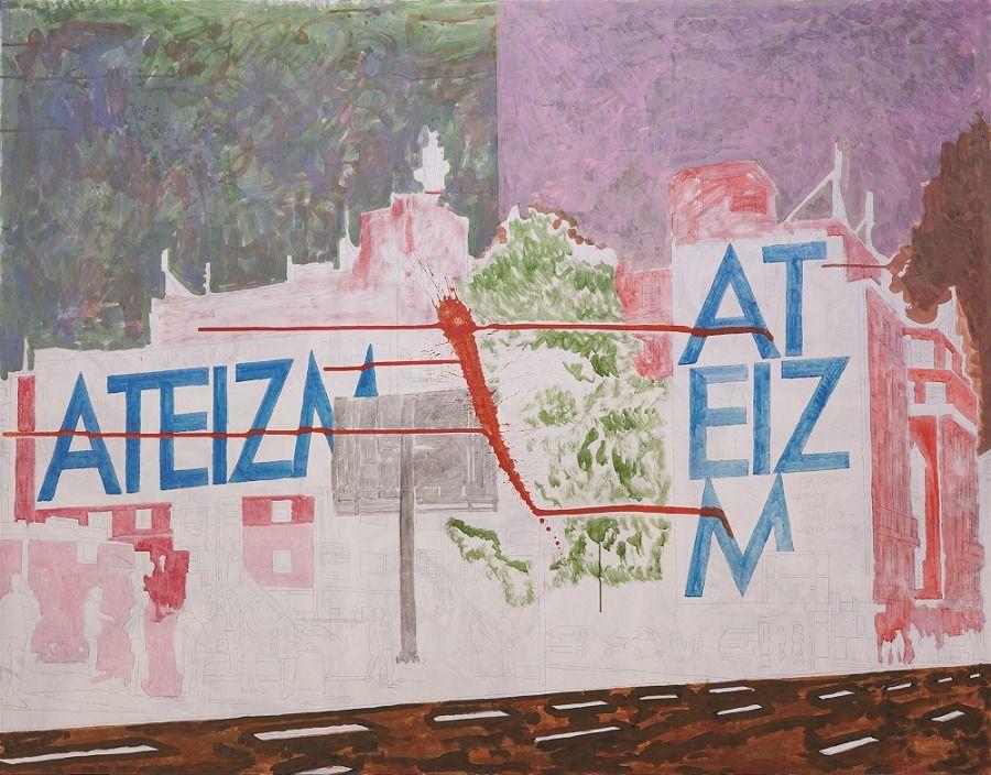 Marek Sobczyk, Targowa 15, 2016, 180 x 230 cm, tempera jajkowa na płótnie