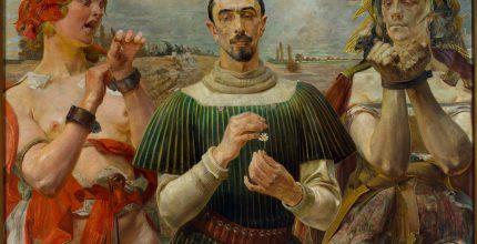 Jacek Malczewski, Polski Hamlet - Portret Aleksandra Wielopolskiego, 1903; Muzeum Narodowe w Warszawie
