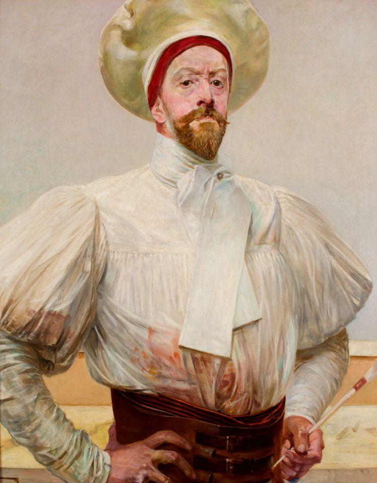 Jacek Malczewski, Autoportret w białym stroju, 1903; Muzeum Narodowe w Krakowie