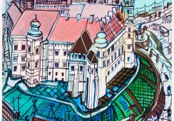 Edward Dwurnik Kraków - Wawel, 2010; Face To Face Art