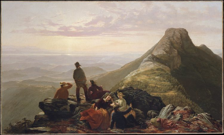 Jerome B. Thompson, The Belated Party on Mansfield Mountain, 1858