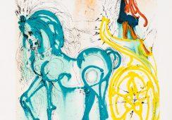 """Salvador Dali Le Cheval de Triomphe z teki """"Les Chevaux de Dali"""", 1983; Face To Face Art"""