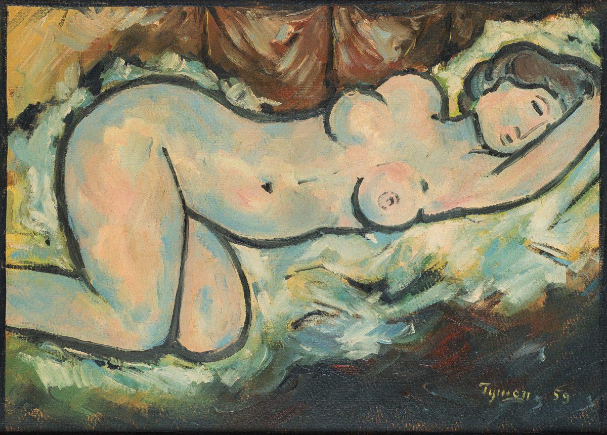 Tymon Niesiołowski Akt leżący, 1959; ; Face To Face Art