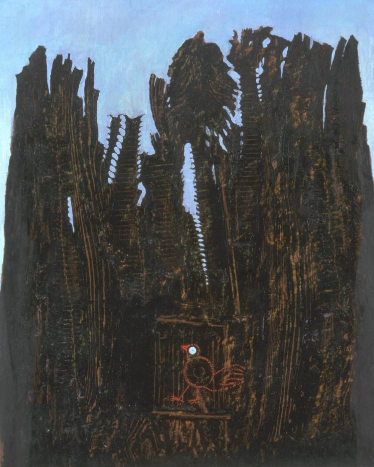 Max Ernst, Las i gołąb (Forest and Dove), 1927; źr. Tate Gallery
