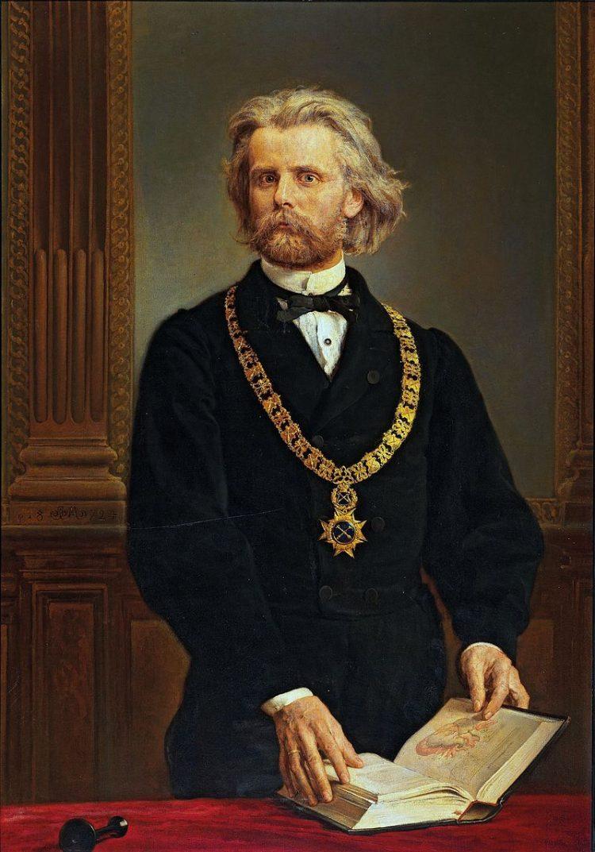 Jan Matejko, Portret prof. Karola Gilewskiego, 1872