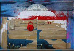 Ewa Kukowska, Wrota wolności, 86 x 128 cm, olej na płycie
