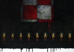 Jarosław Kukowski, Pamiętamy, 100 x 80 cm, olej na płycie