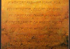 Jarosław Kukowski, Pater Noster, Seria Freski, 122 × 100 cm, olej na płycie