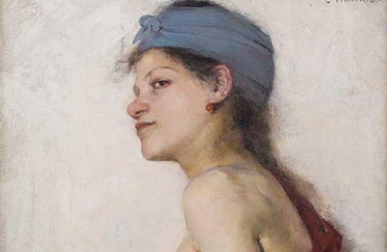Olga Boznańska, Portret kobiety (Cyganka), 1888; źr. ze zbiorów Muzeum Narodowego w Krakowie