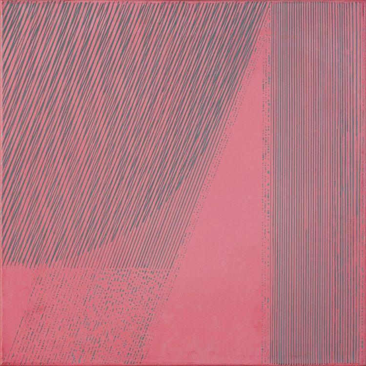 Wanda Gołkowska-Chwałczyk, Luty 1 – Cykl Czerwieni, 1989; źr. Agra Art (Aukcja Sztuki Współczesnej, 6.10.2019)