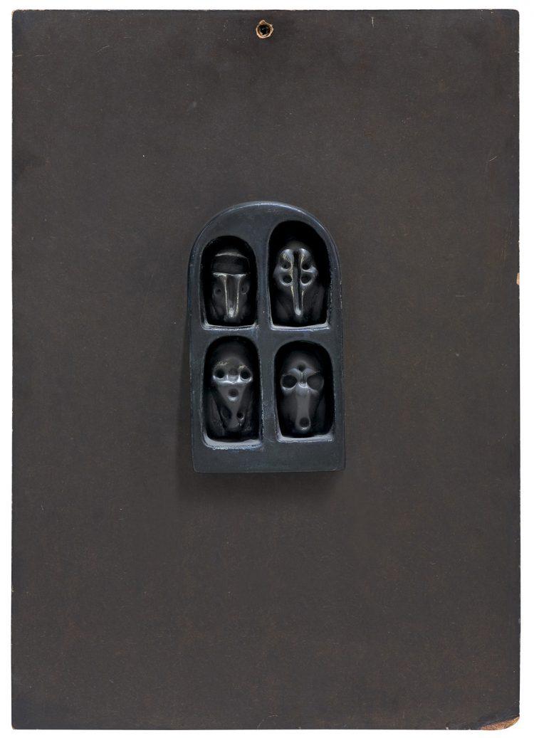 Zdzisław Beksiński, bez tytułu, 1963; źr. Agra Art (Aukcja Sztuki Współczesnej, 6.10.2019)